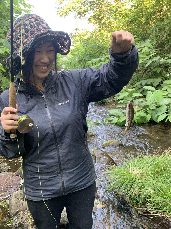 ヤマメが釣れました!