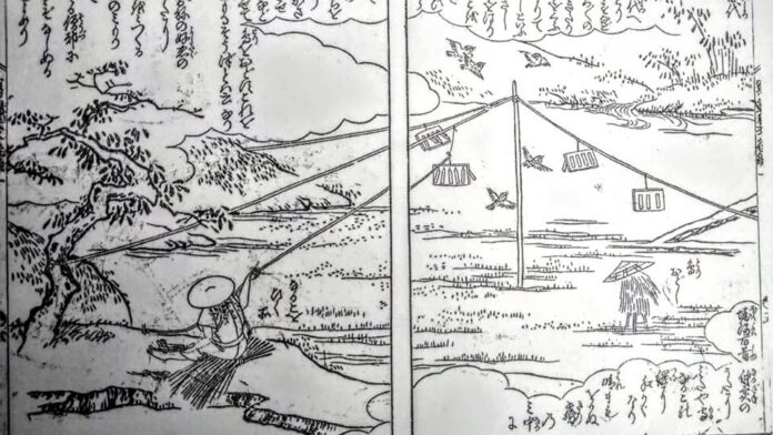 江戸期鳥追いの様子
