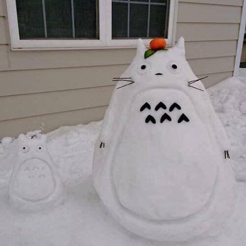 とうべつ雪像